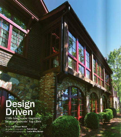 Design Driven Cliffs lake house insprired by grandparents' log cabin at home Summer 2013