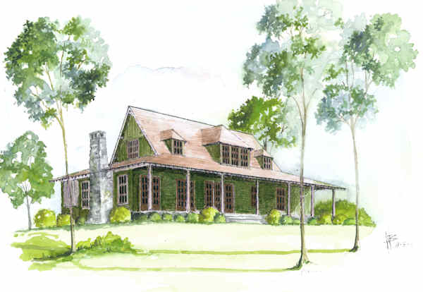 Hawthorne rendering from The Carver Cottage Collection - The Carver Group