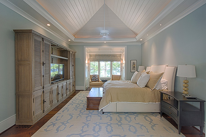 The Cliffs at Keowee Falls South New Lakefront HomeMaster Bedroom Vaulted Wood Ceiling