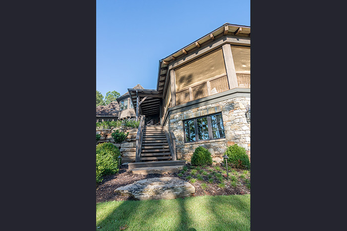 The Cliffs at Keowee Falls South New Lakefront Home Cypress Timber Steps From Screened Porch To Lake