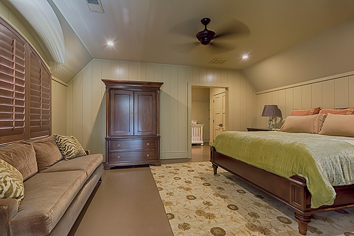 The Cliffs at Keowee Falls South New Lakefront Home Painted Wood Floors In Guest Bedroom