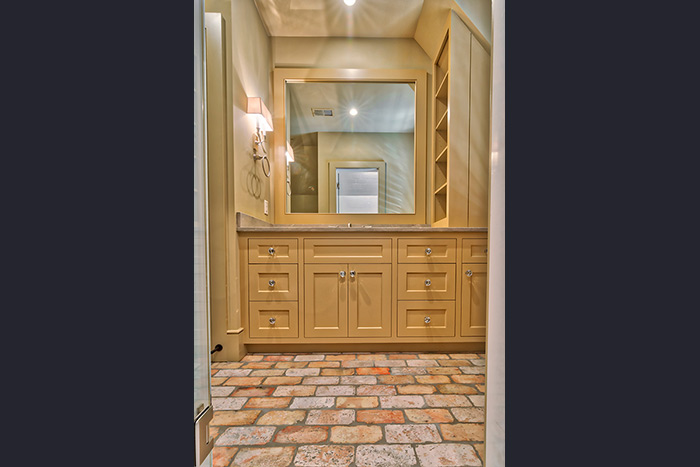 The Cliffs at Keowee Falls South New Lakefront Home Antique Chicago Brick Tile Floors